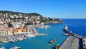 City Of Nice In France, Beautiful View Above Port Of Nice On French Riviera poster