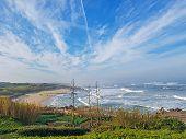 Atlantic Ocean Coastline Landscape Along The Saint James Way In Portugal, Europe poster