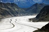 Постер, плакат: Алеч ледника Бернер Оберланд Швейцария наследие ЮНЕСКО