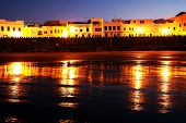stock photo of asilah  - Islamic architecture by night Asilah old medina - JPG