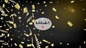 Modern Fireworks Glitter Confetti Card Background. Horizontal Lights Sparkles Background. Cool Spark poster