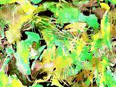 Distress Seamless Pattern. Green Watercolor Brush Stroke Grunge Design. Watercolour Abstract Splash poster