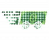 Dollar Banknote Express Halftone Dotted Icon With Fast Speed Effect. Vector Illustration Of Dollar B poster