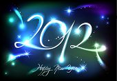 image of new years celebration  - New Years banner for 2012 with back light and place for your text - JPG