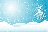 picture of winter scene  - snowy scene - JPG