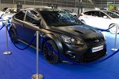 VALENCIA, SPAIN - DECEMBER 5: A 2011 Ford Focus RS500 on display at the 2011 Valencia Car Show on De