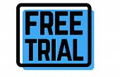 Free Trial Stamp On White Background. Sign, Label, Sticker. poster