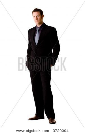 Caucasian Man In Suit And Tie