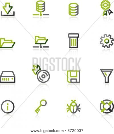 Green-Gray Server Icons