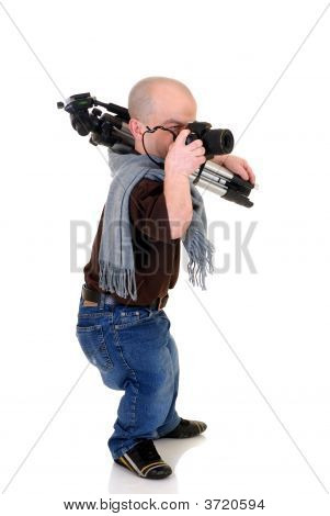 Dwarf, Little Man Photographer