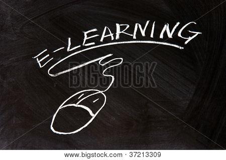 E-learning y un signo de ratón