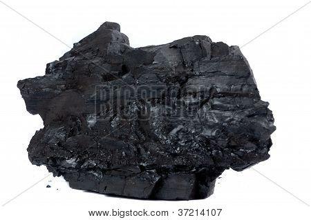 Un trozo grande de carbón