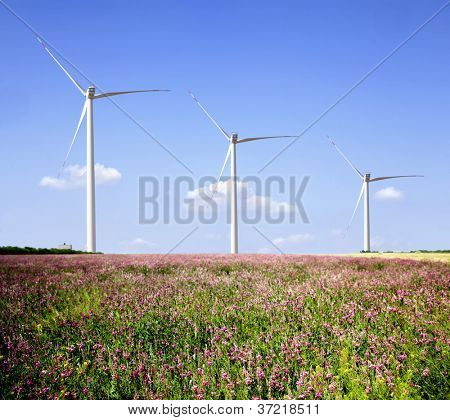 Wind farms in the