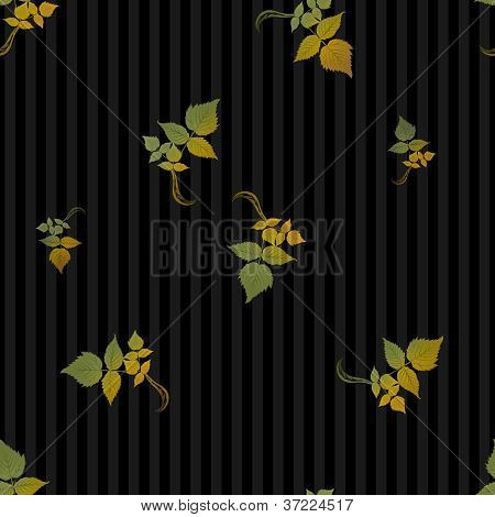 Seamless Autumn Leaves Background