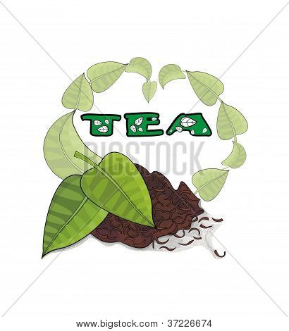 tea brew and tea leaves