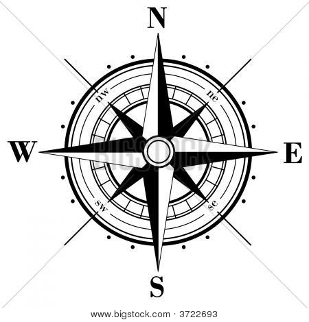 Black Compass Rose