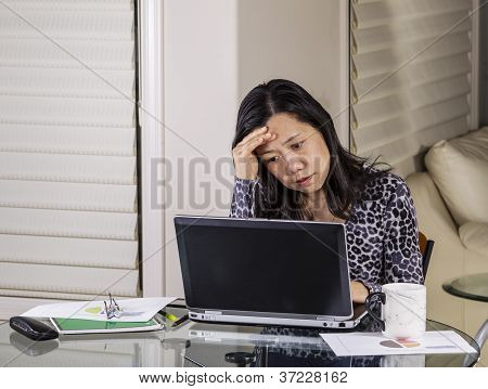 Worried Teleworker At Home Office