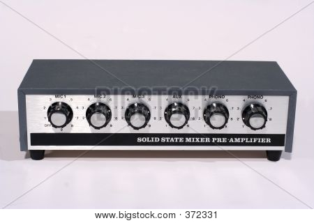 Retro Microphone Mixer