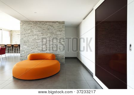 Interior, room withcomfortable armchair orange