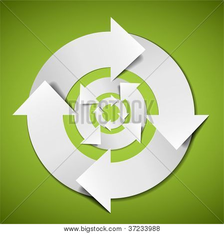 Abstract Vector white life cycle diagram / schema
