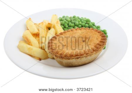Steak & Kidney Pie & Chips