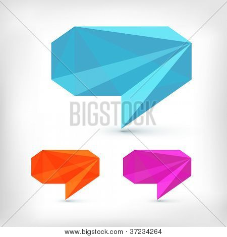 Abstract speech bubble