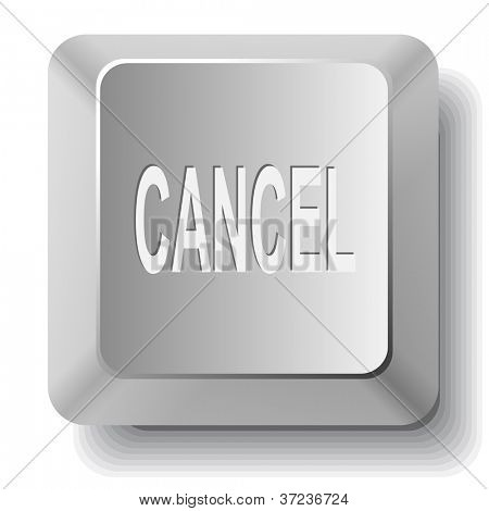Cancel. Computer key. Raster illustration.