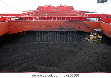 Coal In The Hold Of Tankers