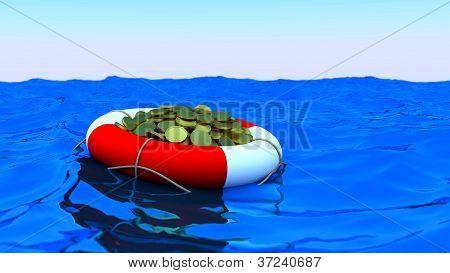 Bouy Coins Ocean