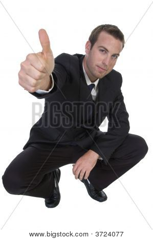 Businessman Wishing Good-Luck