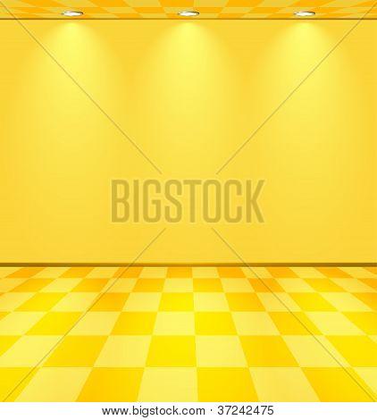 Yellow Lightened Room