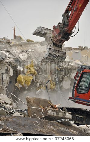 Demolition by Excavator