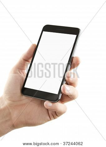 Blank Smart Phone With Clipping Path
