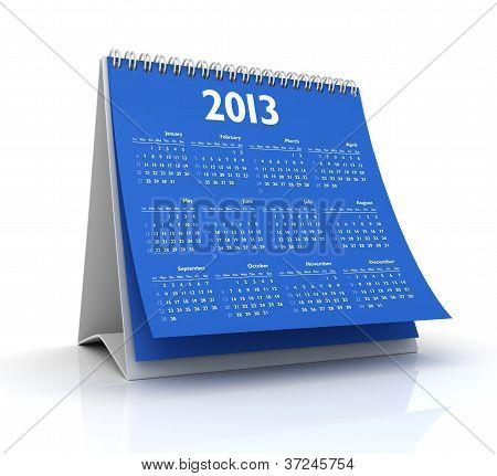 Calendar 2013 In Blue