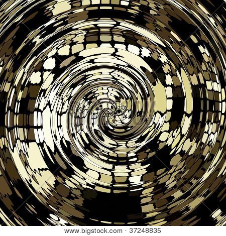art abstract black and white geometric spiral pattern background