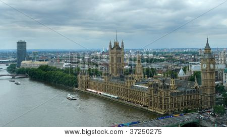 Houses Of Parliament And London City