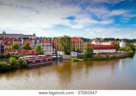 View From Manesuv Bridge In Prague