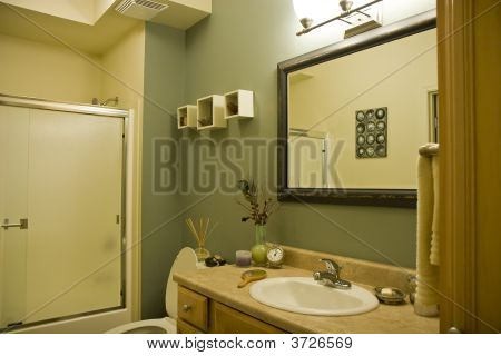 Green And Brown Bathroom Stock Photo & Stock Images | Bigstock