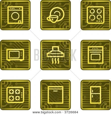 Home Appliances Web Icons, Electronics Card Series