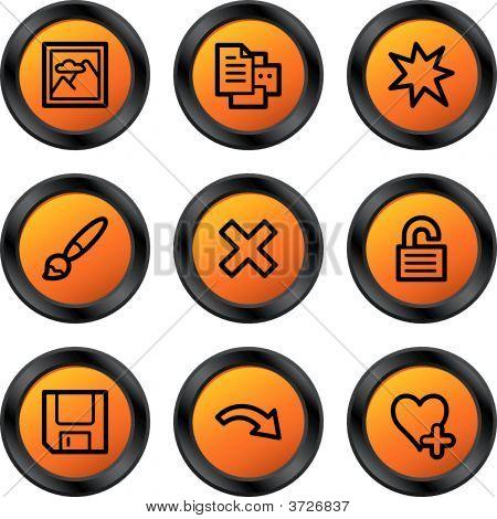 Image Viewer Icons Orange Circle Series