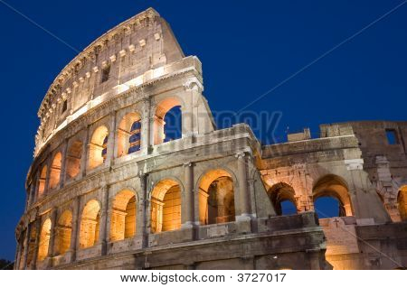 Coliseum In Rome City