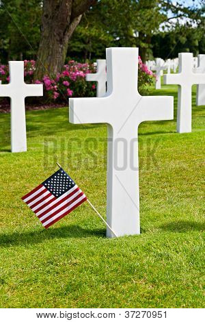 American War Cemetery At Omaha Beach, Normandy (colleville-sur-mer )