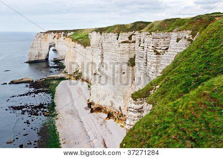 Cliffs Of Etretat, Normandy, France