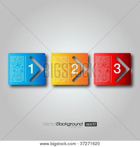 Siguiente paso flecha cajas | EPS10 Vector diseño