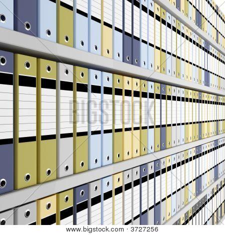 Fondo de carpeta de archivo