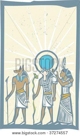 Hieroglyph Sun Rays