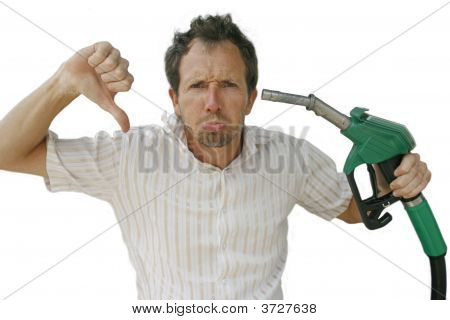 Man At Petrol Pump Angry With Rising Prices