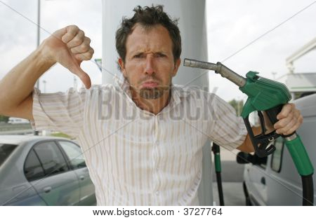 Man At Petrol Pump