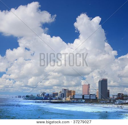ATLANTIC CITY, NJ -  SEPTEMBER 9: Casinos on September 9, 2012 in Atlantic City, New Jersey. Gambling was legalized in the city in 1976 and led to a resurgence.