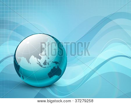Professional Corporate or Business template for financial presentations showing globe. EPS 10. Vector illustration.